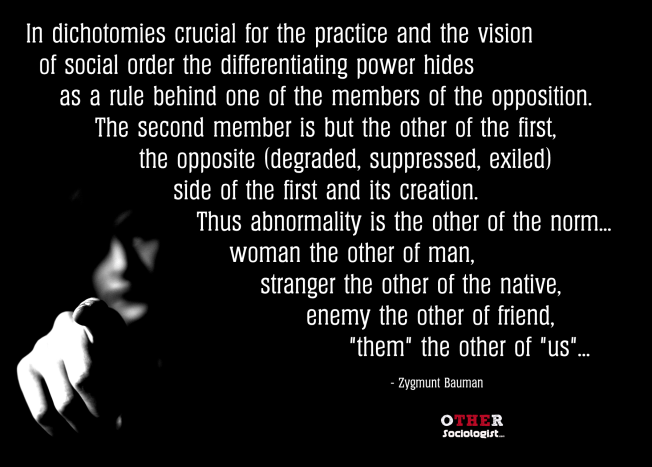 What Is Otherness The Other Sociologist