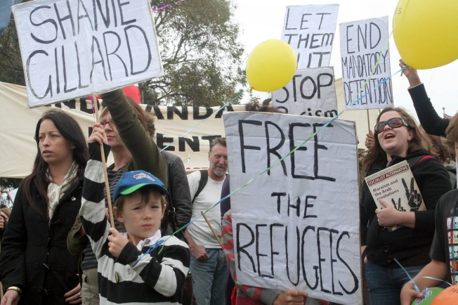 Refugee Children in Immigration Detention Protest Broadmeadows