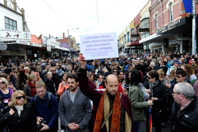 Jill Meagher march on Sydney Road, Brunswick, 30th of September 2012. Via Remember Our Sisters Everywhere