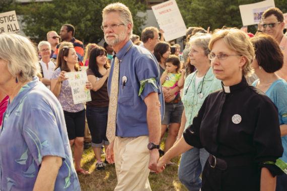 Reverend civil protest North Carolina USA