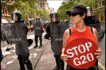 G20 Protests, Melbourne Nov 2006, Photo by Rusty Stewart via Flickr.
