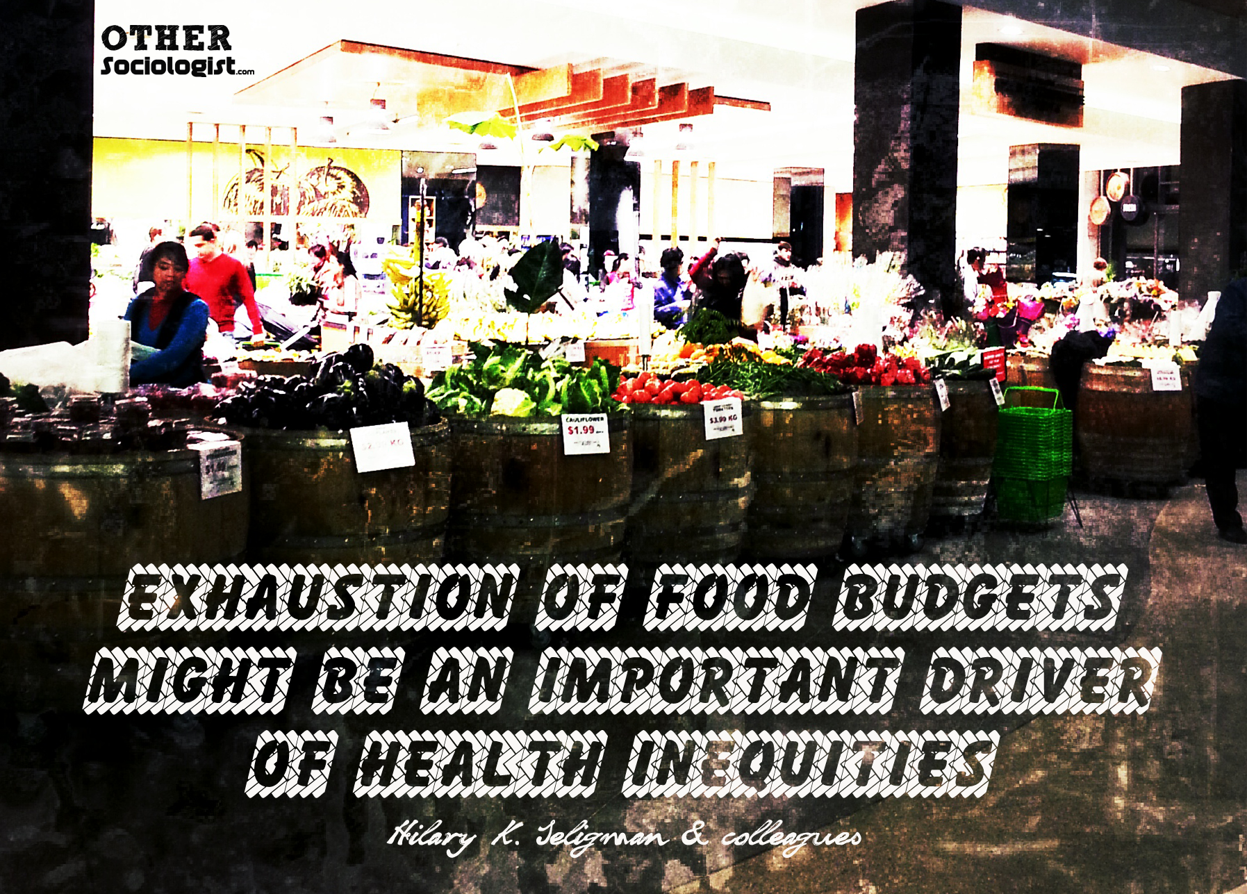 Exhaustion of food budgets is a driver of health inequality - The Other Sociologist