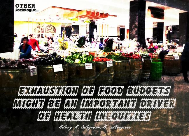 食品预算用尽健康不平等的司机 - 的其他社会学家188betiosapp