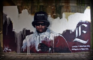Street art mural of N.W.A.'s Eazy-E. Photo: Christiaan Triebert, CC 2.0 via Flickr