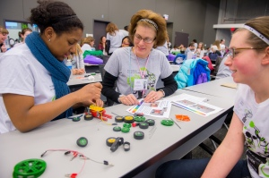 Girls in STEM. Photo by Argonne National Laboratory.