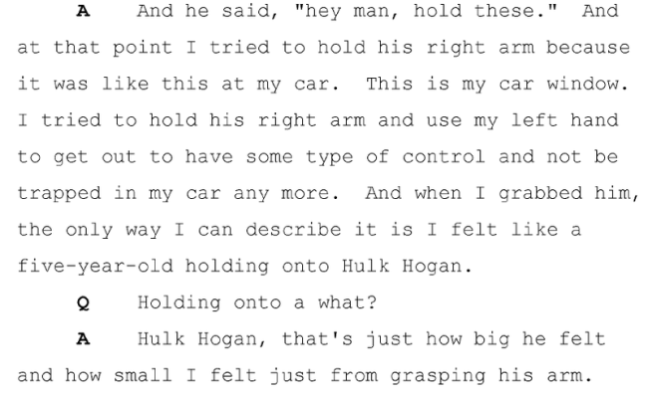 Darren Wilson's Indictment Hearing Statement on Michael Brown Hulk Hogan