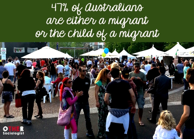 47% of Australians are either a migrant or the child of a migrant