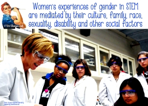 Women's experiences of gender are mediated by their culture, family, sexuality and other social factors