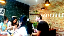 Eclectic crowds at Dobbinsons Bakery Cafe