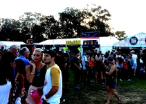 Crowds line up at the Enlighten Festival - Night Noodle Market