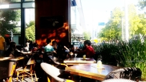 People watching galore at Koko Black, plus tables that are perfect for writing