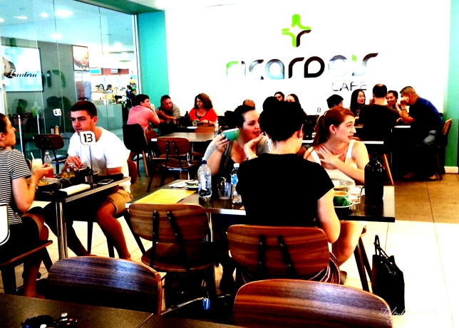 People sitting inside Ricardo's Cafe
