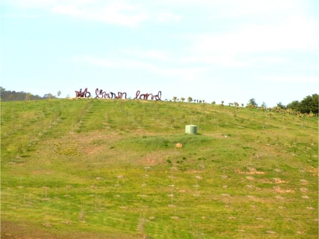 Wide Brown Land, sculpture by Marcus Tatton, Futago Design Studios and Chris Viney, 2010