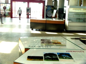 Science display on identity at the Village Centret, National Arboretum Canberra