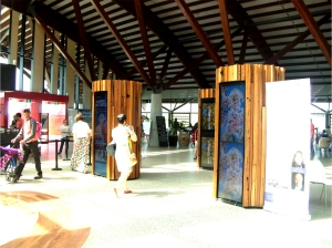 Science displays at the Village Centre, National Arboretum Canberra