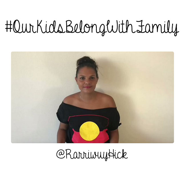 #OurKidsBelongWithFamily Twitter photo of founder @RarriwuyHick