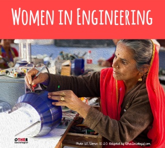 Indian woman solar engineer working