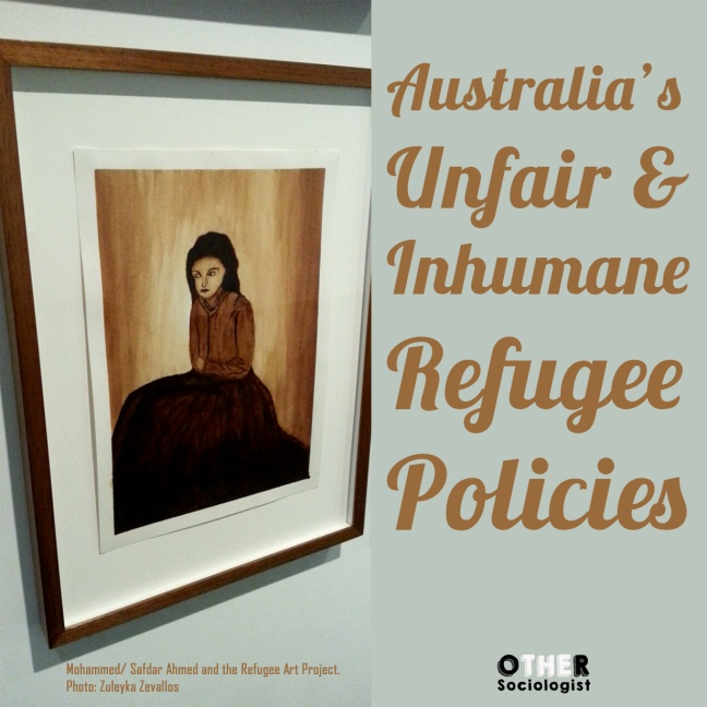 Untitled (refugee girl) by Mohammed. Via Safdar Ahmed and the Refugee Art Project