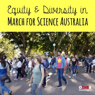 Australians protesters at the March for Science in Sydney