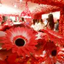 Flower obsession by Yayoi Kusama. Photo: Zuleyka Zevallos