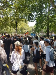 Invasion Day crowd at Hyde Park