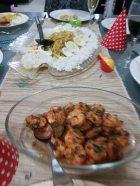 Masterchef Peru - garlic prawns peruvian style