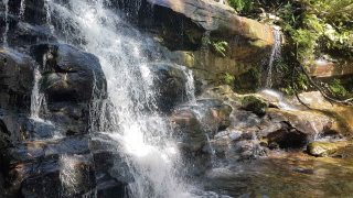 Somersby Falls - middle falls water