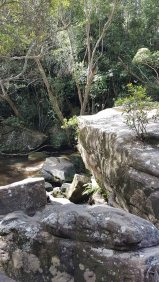Somersby Falls - lower falls rocks