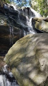 Somersby Falls - lower falls water and rocks