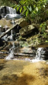 Somersby Falls - lower falls water
