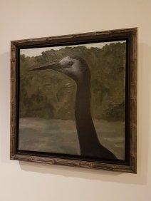 一只长颈鸟的可怕的画