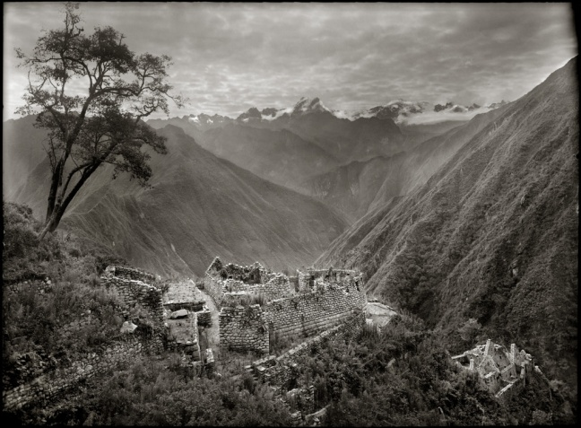 Cusco valley with mist across the background